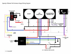 project sportrunner performance gauges, electrical wiring, auto gauge wiring diagram